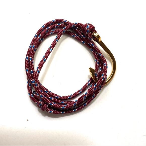 Miansai nautical anchor rope bracelet unisex gold